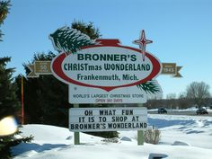 Bronners Christmas Store in Frankenmuth, Michigan. Biggest ...