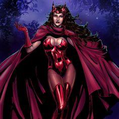 Scarlet Witch, Wanda Maximoff by Salamandra88.deviantart.com on @deviantART