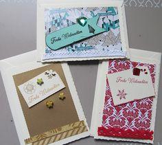 Weihnachtskarten - 3er Sortiment - handmade von Astrid`s Papeterie  auf DaWanda.com