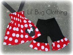 Items similar to Custom Boutique Clothing White Red Jumbo Dot Minnie Mouse Smocked Halter & Shorts on Etsy Sewing For Kids, Baby Sewing, Sewing Ideas, Disney Outfits, Children Outfits, Cute Outfits, Bug Clothing, Boutique Clothing, Florida Outfits