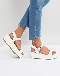 e9910b1a964cd9 ASOS TOUCAN Wedge Sandals Strappy Sandals