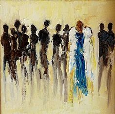 """Love """"One in a Crowd"""" Judy Mackey palette knife painter"""