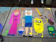 Our sidewalk art :)