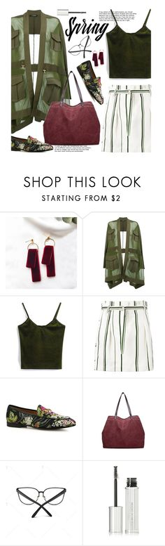 """Casual"" by beebeely-look ❤ liked on Polyvore featuring Balmain, 3.1 Phillip Lim, Gucci, Givenchy, casual, CasualChic, velvet, sammydress and Gogreen"