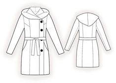 Manteau - Patrons de couture #4383. Made-to-measure sewing pattern from Lekala with free online download.