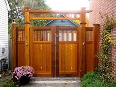 Our Signature Garden Gates in over 100 various designs. Every Wood Gate is made-to-order to your dimensioned specifications Backyard Gates, Driveway Gate, Backyard Pergola, Arbor Gate, Wood Arbor, Ann Arbor, Tor Design, Gate Design, Garden Entrance