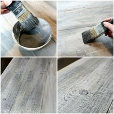 Diy Crafts Ideas : How to make new wood look like old barn board.