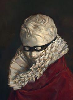 Stephen Appleby-Barr.  Dulac Bust, 2011, oil paint on canvas