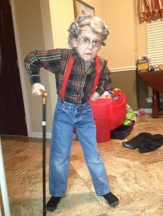100th day of school (dress like you're 100) Old man example