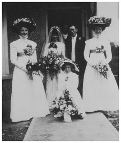 Wedding photo. USA, 1910.