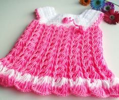 Crochet Baby Dress 5 colors available
