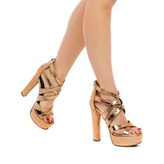 Kristin - ShoeDazzle - These chic metallic platforms make us want to go dancing!