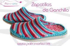 zapatillas de ganchillo con suela
