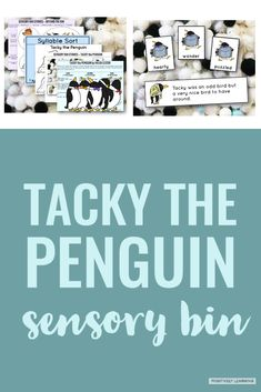Tacky the Penguin Sensory Bin Story - Meet students' sensory needs and offer opportunities to play while still staying aligned with the curriculum! #tackythepenguin #readalouds #sensorybins