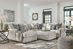 Corner Chaise Sectional by Signature Design by Ashley. Get your Dellara - Chalk 4 Pc. Corner Chaise Sectional at TNT Super Home Store, Madison AL furniture store. French Country Living Room, Furniture, White Living Room Decor, Living Room Decor Neutral, Country Living Room, Trendy Living Rooms, Ashley Furniture, City Furniture, Sectional Ottoman