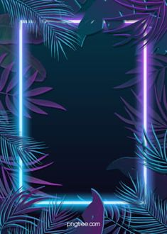 Tropical Plants Blue Purple Neon Effect Leaves Background - Modern Light Background Images, Fantasy Background, Leaf Background, Background Pictures, Violet Background, Framed Wallpaper, Wallpaper Backgrounds, Wallpaper Designs, Cartoon Leaf