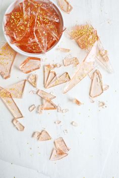 So pretty! make your own rose-flavored rock candy (click through for tutorial)