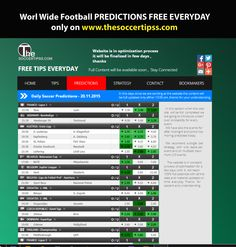 www.thesoccertips... #free #tips #football #everyday Best Football Tips, Free Football, Soccer Tips, Football Predictions, Lottery Numbers, Free Tips, Sports Betting, Book Making, Scores