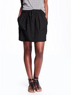 37906506deb0e  Own something similar  Linen-Blend Mini Skirt for Women