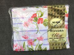 "60's Stevens Utica ""Mixed Bouquet"" by JP Stevens x2 Standard Pillowcases NIP by ElkHugsVintage on Etsy"