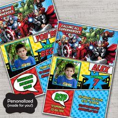 Avengers Birthday invite,Avengers,Avengers invite,JPG file,Invite,Thank You Card,Avengers Birthday Party Invite and Thank You Card,DPP06