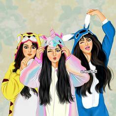 Drawings of friends Dibujos de amigas Drawings of friends Friend Cartoon, Girl Cartoon, Cartoon Art, Best Friends Cartoon, Bff Pictures, Best Friend Pictures, Pictures To Draw, Best Friend Drawings, Girly Drawings