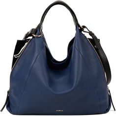 ELISABETH Sac hobo ❤ liked on Polyvore featuring bags, handbags, shoulder bags, accessories handbags, blue shoulder bag, hobo handbags, blue shoulder handbags and blue handbags