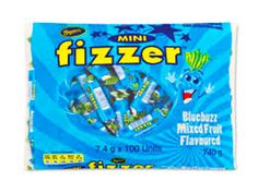Beacon Mini Fizzers - Blue Buzz, and other Confectionery at Australias best prices , are ready to buy at The Professors Online Lolly Shop with the Sku: 4592