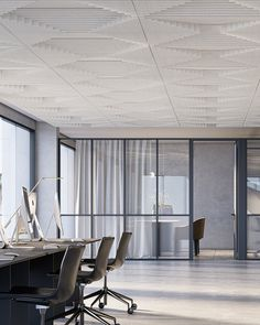 New Ecoustic Sculpt! Introducing 4 highly functional sculptural designs in our award-winning acoustic drop-in ceiling tile system. Designed + made in Australia. Ceiling Grid, Ceiling Tiles, Ceiling Design, Suspended Ceiling Systems, Sound Absorption, Excellence Award, Acoustic Panels, Environment Design, Sculpting