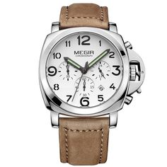 Watch Hub Co. - Cannon / Beige Leather Leather Watch