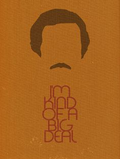 ANCHORMAN Inspired Minimalist Movie Poster Print 12 by ThePopPress