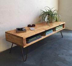Sideboard Industrial Design - Minimalism - furniture wood - found on ebay-kleinanzeigen.de // 2 Hairpin legs Haarnadel Beine Stahl 20cm Mid Century Neu in Neuss