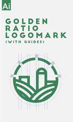 Golden Ratio LogoMark (with Guidelines) Tutorial