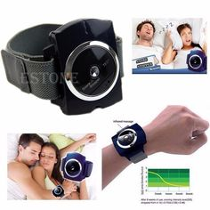 $5.99 (Buy here: http://appdeal.ru/5zgf ) Infrared Intelligent Anti Snore Wristband Watch Stop Snore Solution Sleeping Aid for just $5.99