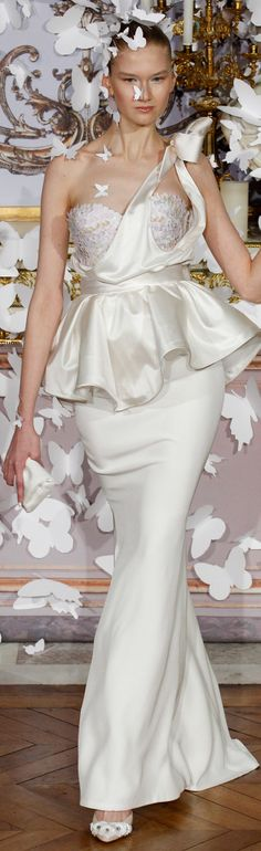 Alexis Mabille Spring 2014 Couture white wedding dress