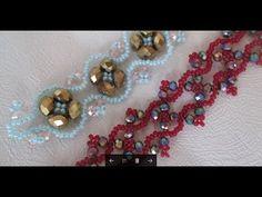 Мк. браслет из кристаллов и бисера. ЛюПетра. - YouTube Seed Bead Jewelry, Beaded Jewelry, Beaded Bracelets, Beaded Necklace Patterns, Beading Tutorials, Beaded Embroidery, Jewelery, Jewelry Making, Crystals