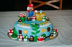Mario bros birthday cake for my son Super Mario Torte, Cupcakes Super Mario, Bolo Super Mario, Kid Cupcakes, Cupcake Cakes, Mario Birthday Cake, Super Mario Birthday, Lego Birthday, Cake 5 Year Old Boy