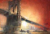 Sunset, Brooklyn Bridges II by Antonio Masi