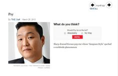 Psy nominated for 'Time 100′