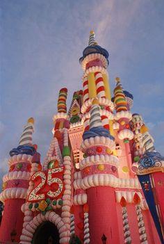 Cinderellas Castle on Magic Kingdoms 25th Anniversary year