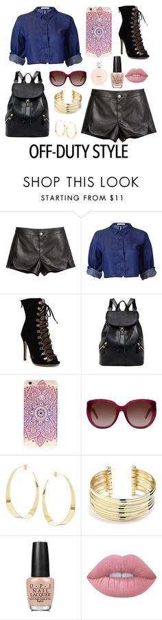 """""""Off-Duty Style"""" by rnieass on Polyvore featuring Yves Saint Laurent, Lana, Belk Silverworks, OPI and Lime Crime"""