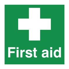 First Aid Safety Signs - Square - Blitz Media