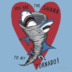 "RiffTrax LIVE: Sarknado is Coming Soon! ""Shark To My Tornado"" t-shirt, vinyl sticker, and greeting card by jarhumor"