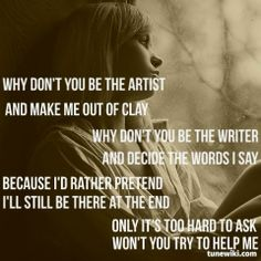 "-- #LyricArt for ""The Writer"" by Ellie Goulding"