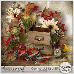 Commercial Use 55::22/10 - Wonderful Wednesday::Memory Scraps {CU}