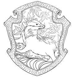 Hufflepuff Crest Pottermore Coloring Pages Harry