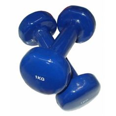 činky jednoruční 2x1kg modré Gym Equipment, Fitness, Workout Equipment