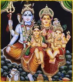 Ganesha Painting, Lord Shiva Painting, Tanjore Painting, Radhe Krishna Wallpapers, Lord Krishna Hd Wallpaper, Shiva Parvati Images, Shiva Shakti, Shiva Art, Hindu Art
