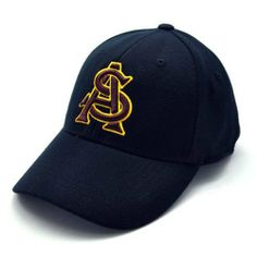 Arizona State Black Premium FlexFit Baseball Hat by Top of the World. $16.94. This hat features the styling of a fitted cap, with the convenience and flexibility of adjustable hats through an expandable rear of the hat that contours to fit your head exactly. Showcases an embroidered 3D team logo on cotton twill. Mascot on rear of hat. 100% Wool. Available in 2 sizes: -Small / Medium - Hat Sizes 7 - 7 3/8 (Fits 75% of most adult heads) -Large / X-Large - Hat Sizes 7 1/2 to...