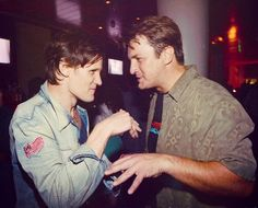 Matt Smith with Nathan Fillion at Comic Con 2012. Again, WHY AM I NOT THERE?!!! WHY IS MY LIFE A TRAGEDY?!!!! Argghghhhh!!!